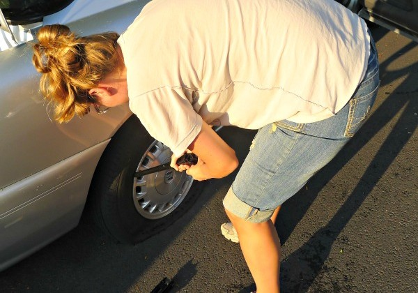 lady's guide to changing a tire
