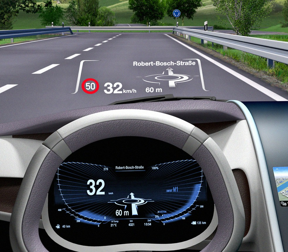 combiner head up display from bosch autoizer auto news. Black Bedroom Furniture Sets. Home Design Ideas