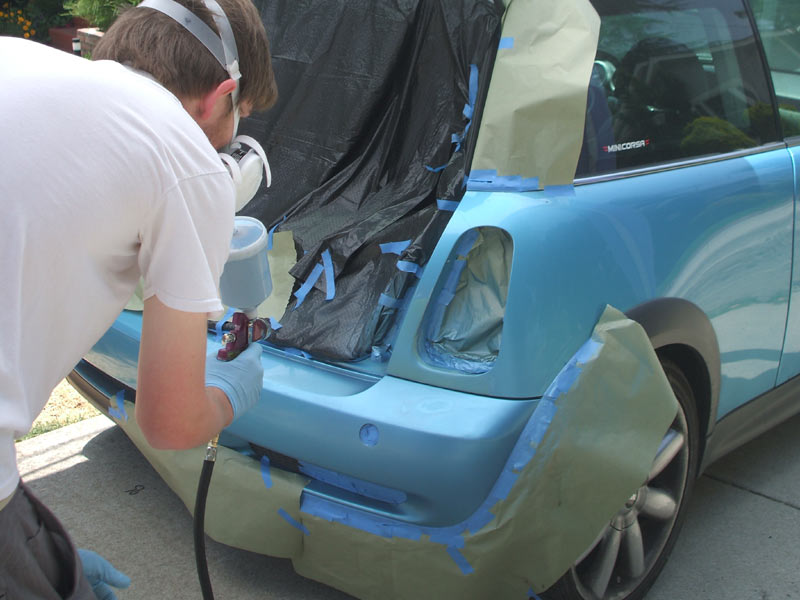 Spray-Painting the Imperfections off Your Car