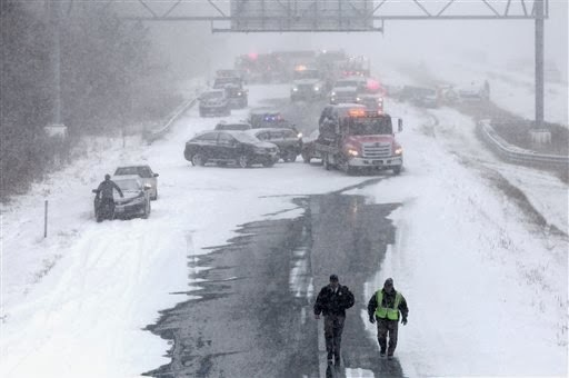 injuries on snowy Roads